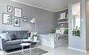 Диван и кровать в гостиной – идеи оформления