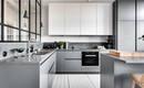 Серо-белая кухня - идеи дизайна с фото
