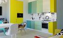 Дизайн трехцветной кухни