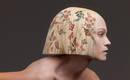 Цифровая печать цветочных мотивов на волосах из коллекции в стиле барокко
