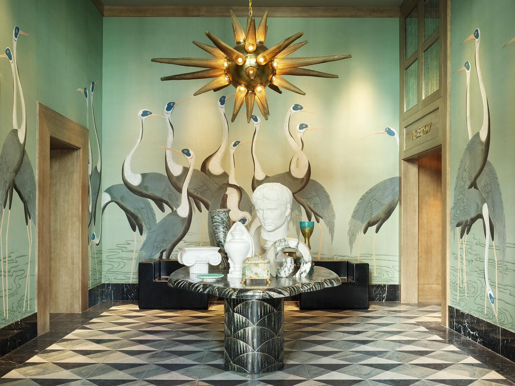 4._miami_viceroy_hotel._edo_cranes_in_special_colourway_on_blue_grey_dyed_silk._interior_design_by_kelly_wearstler