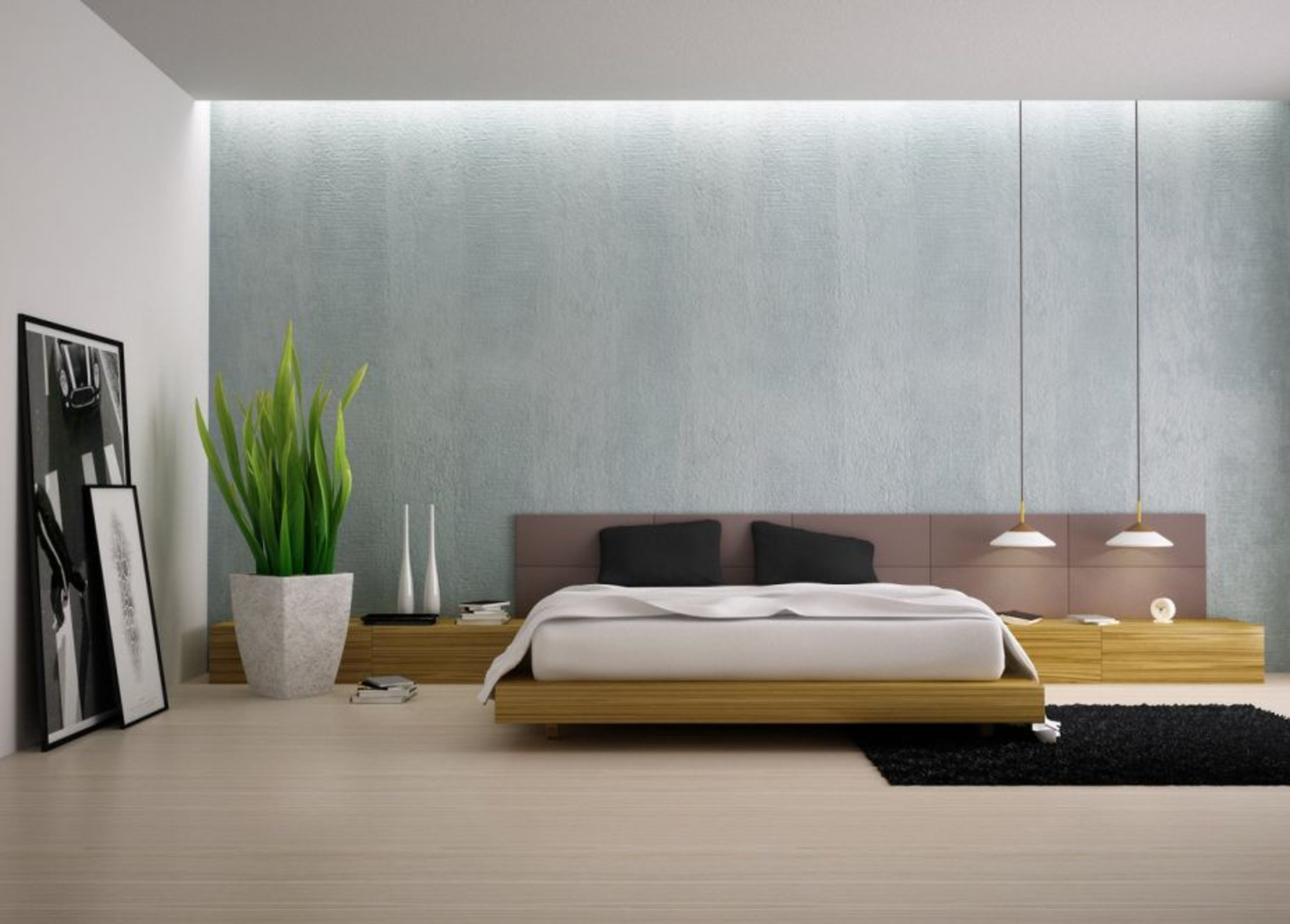 bedroom-bedroom-interior-sweet-and-nice-brown-wooden-low-profile-master-bedding-with-gray-headboard-as-well-as-cool-false-ceiling-lamps-in-modern-minimalist-bedroom-ideas-27-mini