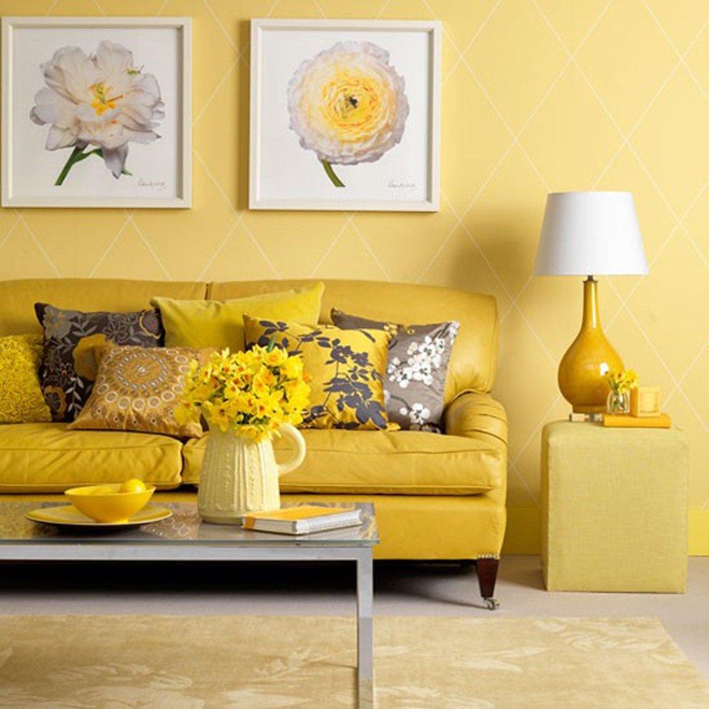 Интерьер в желтых цветах