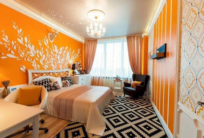 Интерьер в оранжевых цветах