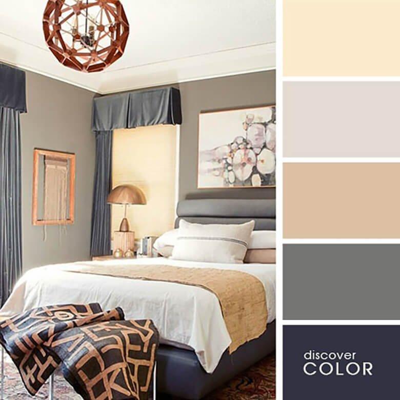 Интересно оформленная спальня