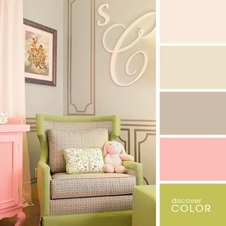 Детская комната в нежно розовом цвете