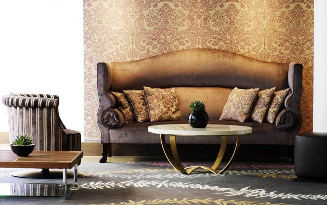 Оформление интерьера в коричневом стиле - 2