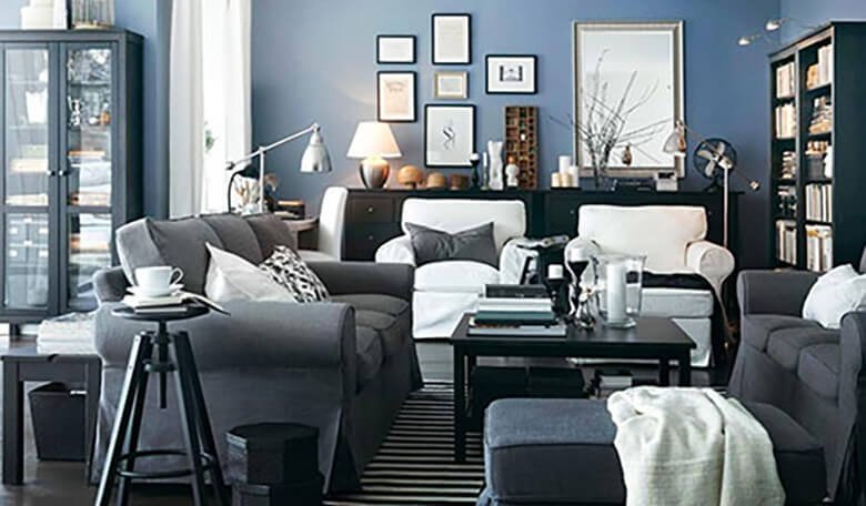 Нейтральное цветовое сочетание в комнате