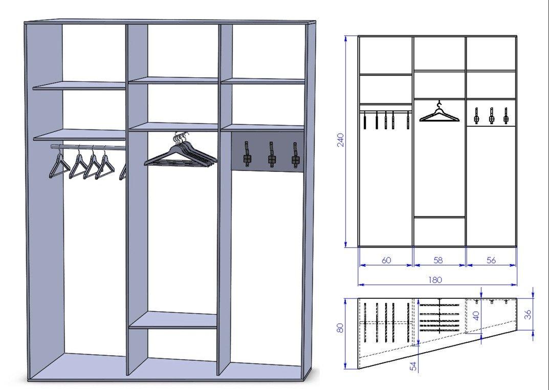Визуализация будущего шкафа купе