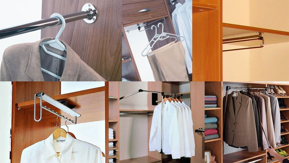 Подбор палки для плечиков в шкаф купе