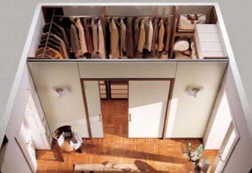 Шкаф купе с гардеробной