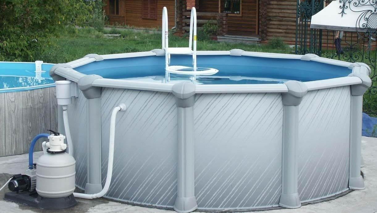 Каркасный вариант самодельного бассейна