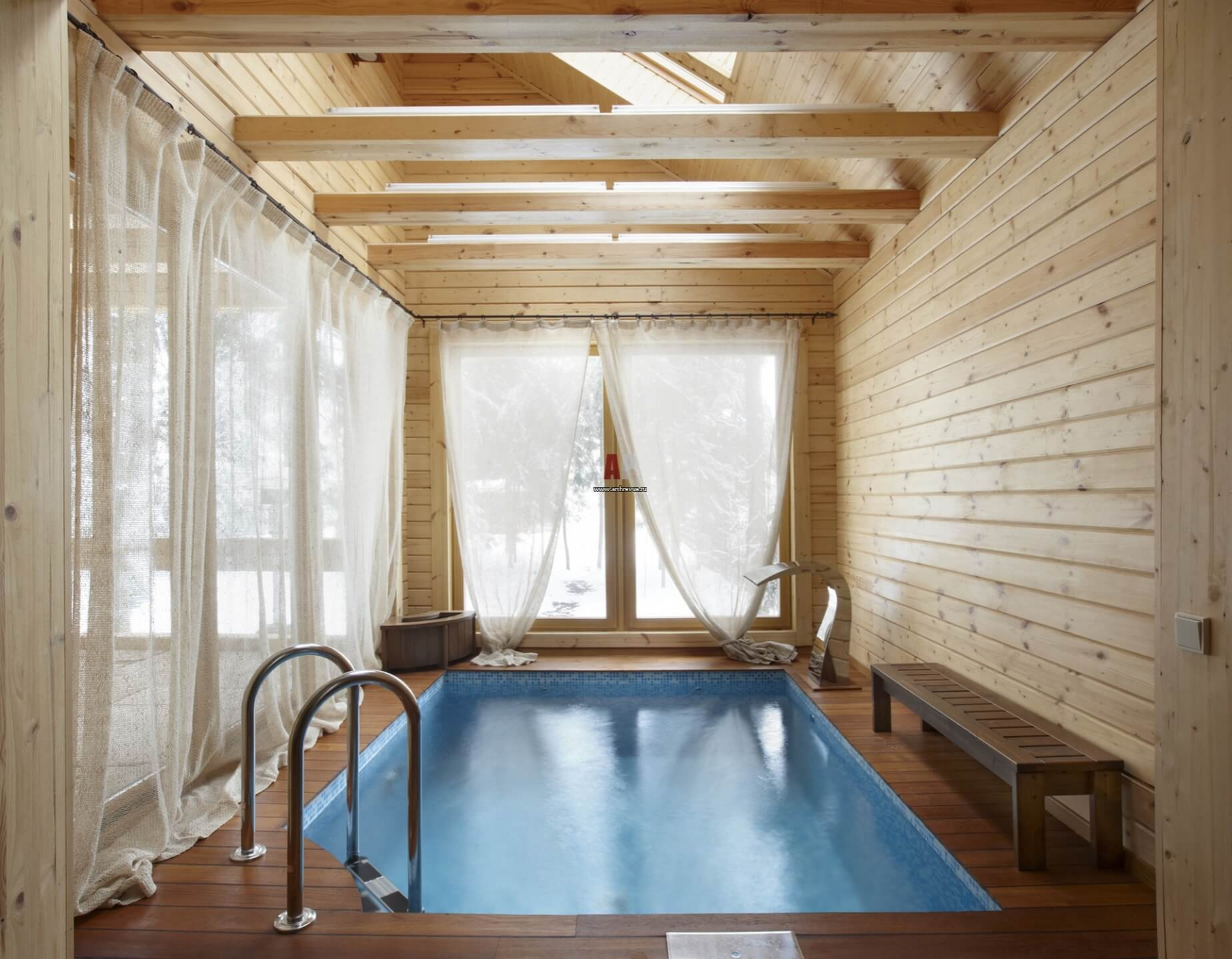 Бассейн в бане, сделанный своими руками