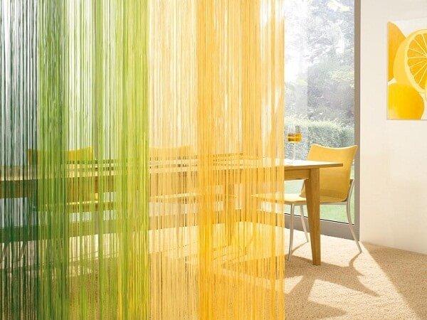 Разноцветные шторы в мягких цветах