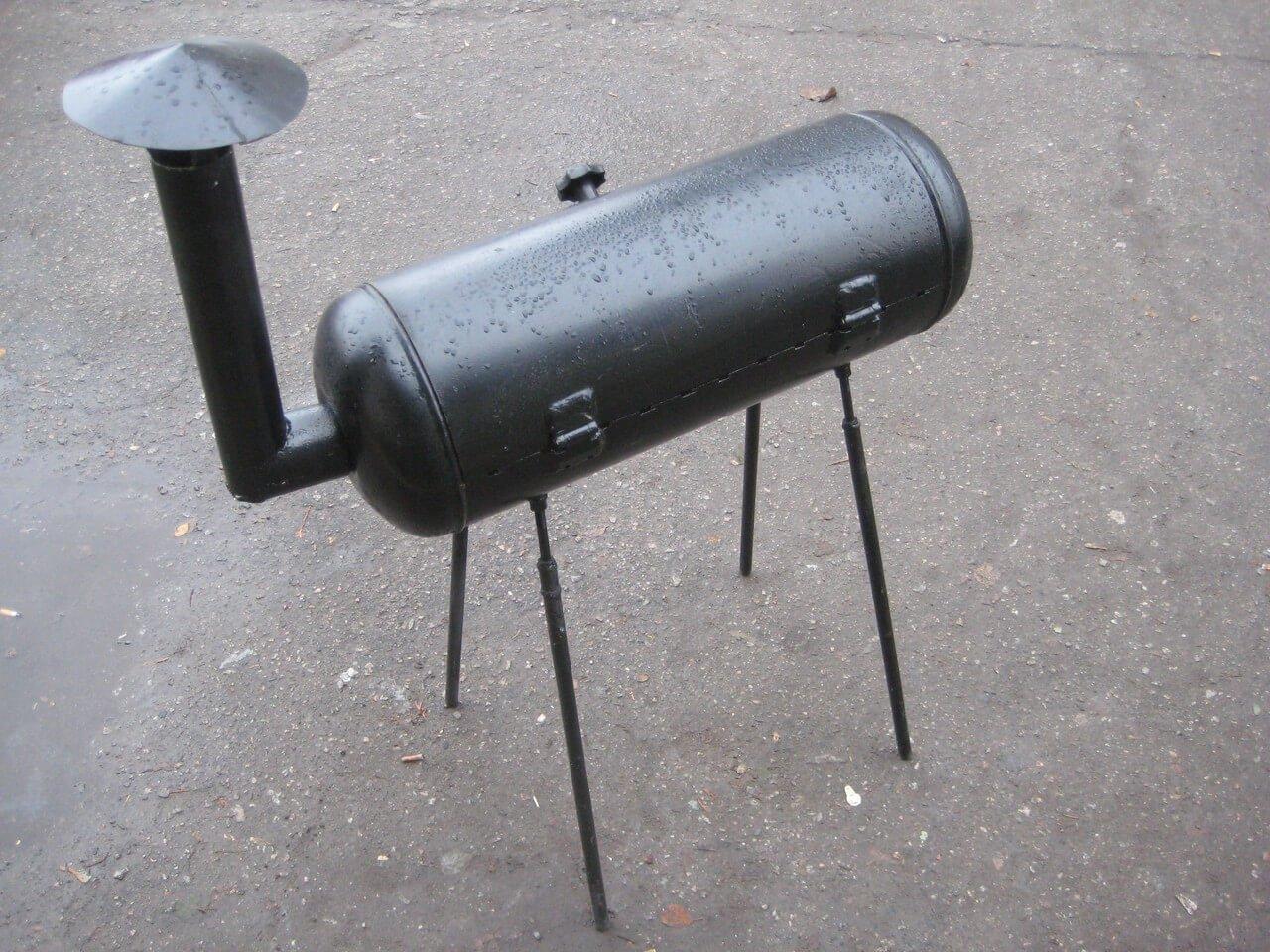 Фото мангала из черного газового баллона