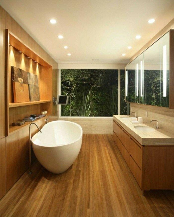waschtisch-unterschrank-holz-und-ovale-badewanne