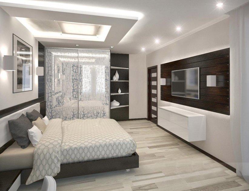 Строгий пол в спальне