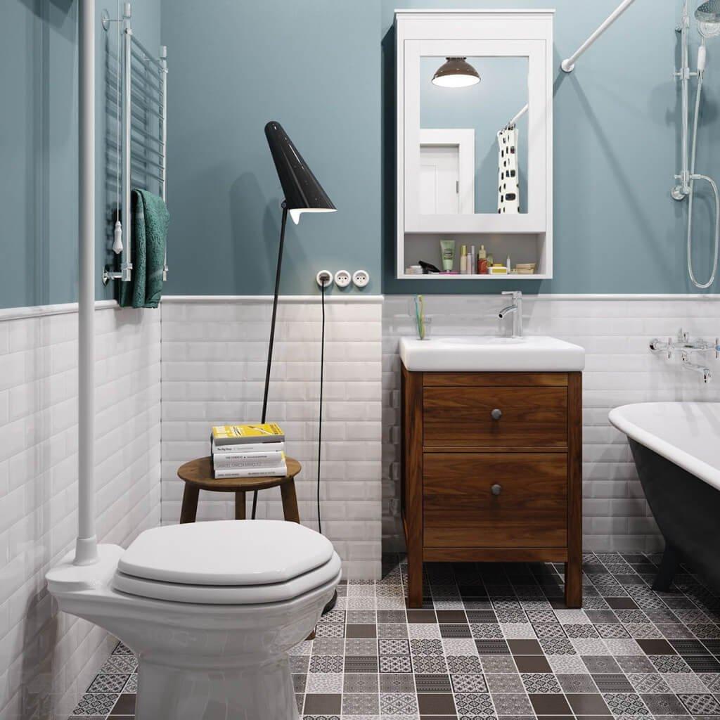 Лампа в ванной, в виде декоративного украшения