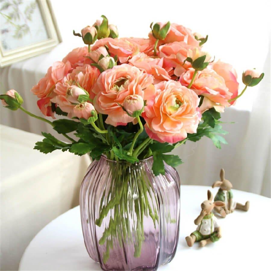 Фото букета чайных роз розового цвета