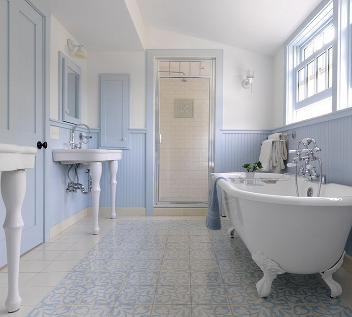 farmhouse-style-bathroom-uses-a-gentle-shade-of-blue-along-with-white_01