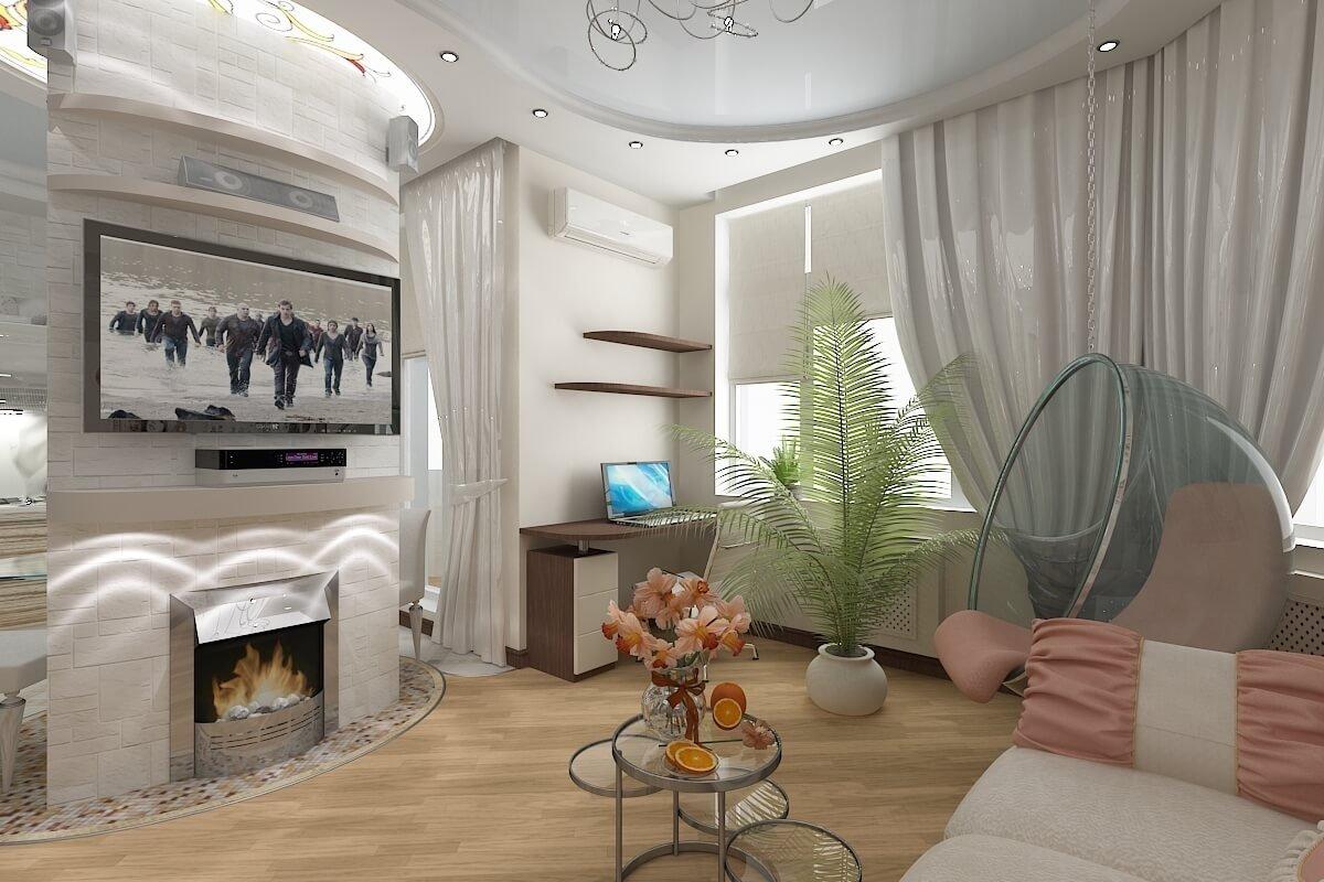 Грамотно подобранная мебель для зала