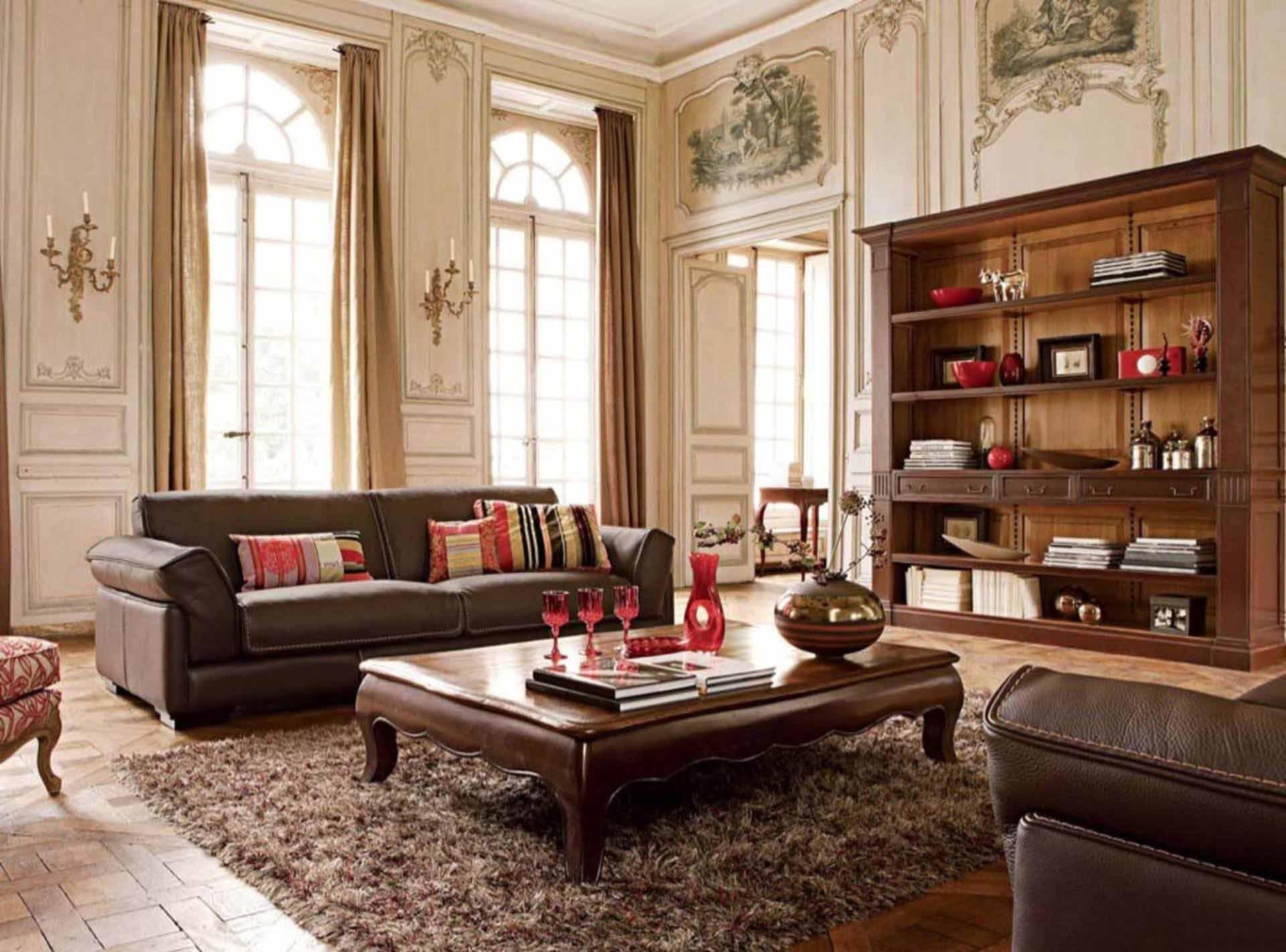 Фото зала, оформленного в классическом стиле