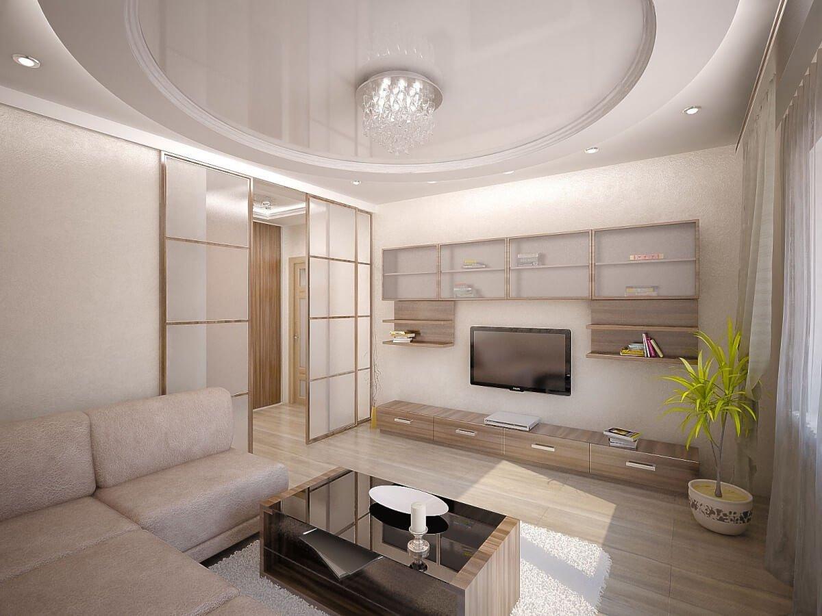 Фото красиво оформленного зала в квартире