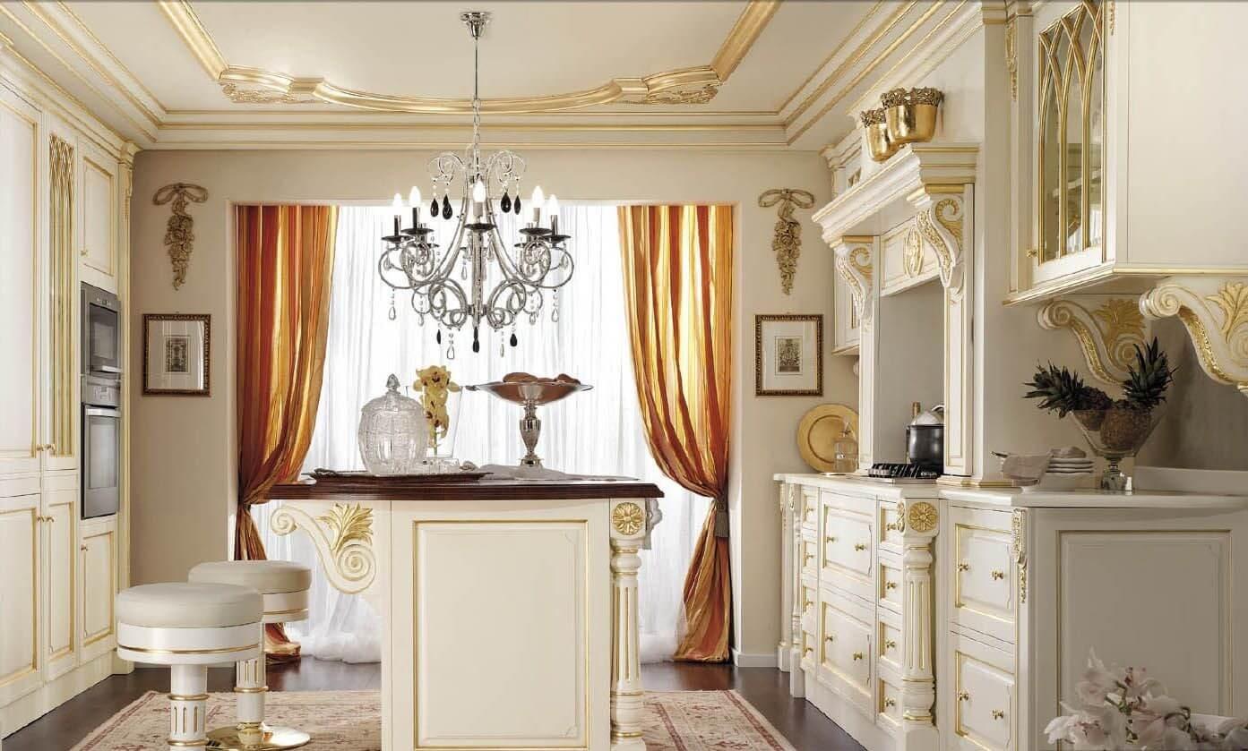Фото итальянских штор на кухне