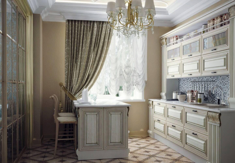 Фото итальянских штор на кухне - 2