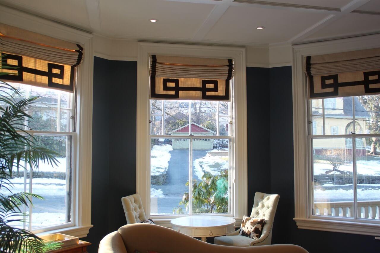 Фото греческих штор на кухне - 2