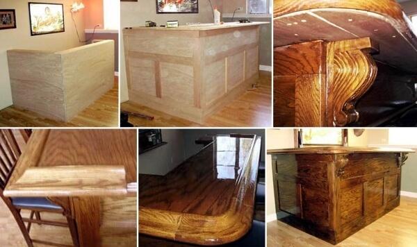 6 фото барных стоек на кухне из различных материалов