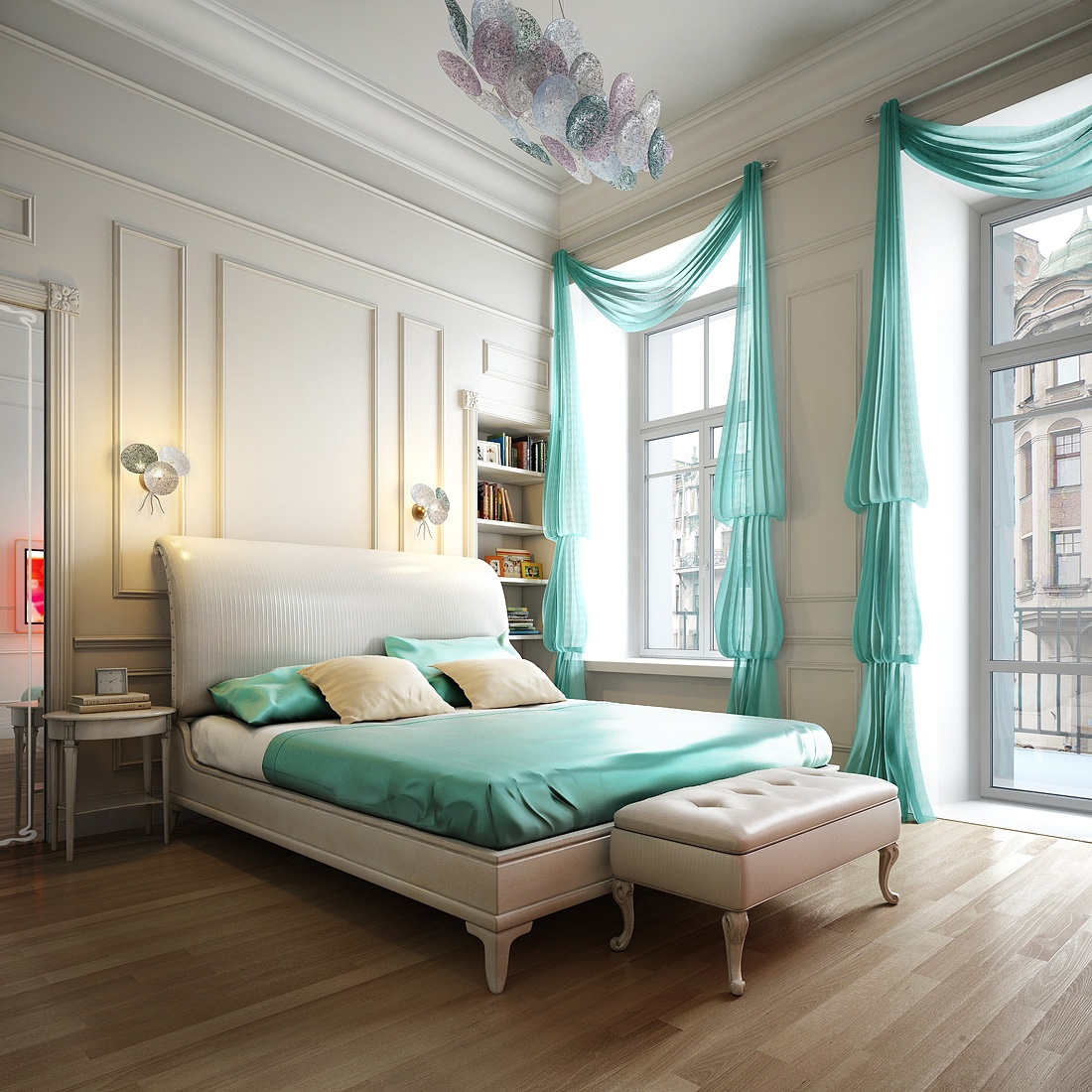 romantic-bedrom-decorated-with-spacious-curtains-1