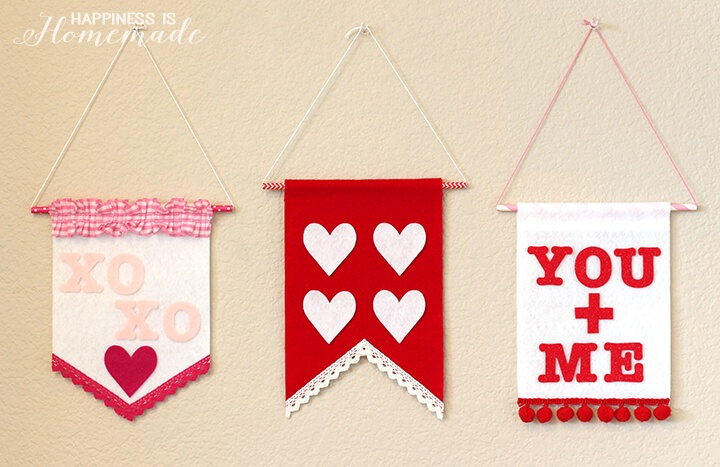 felt-wall-banners-for-valentines-day