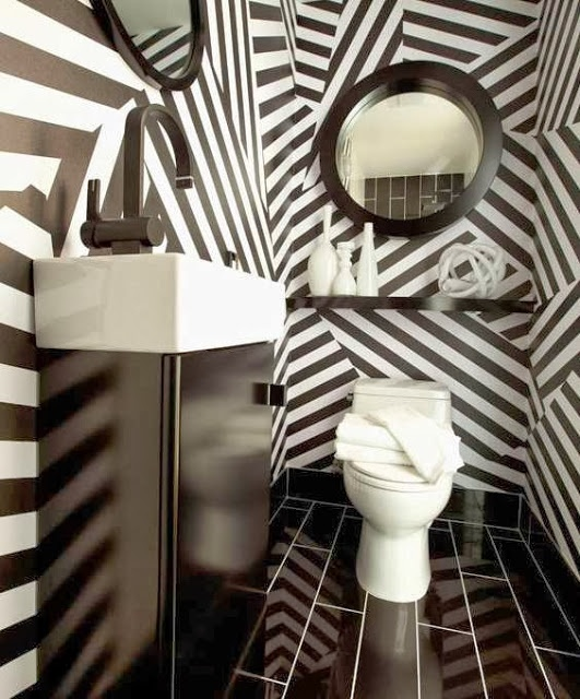black-white-powder-room