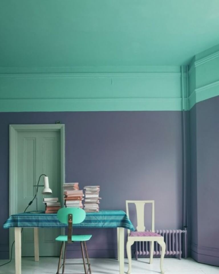 complementary-color-block-wall