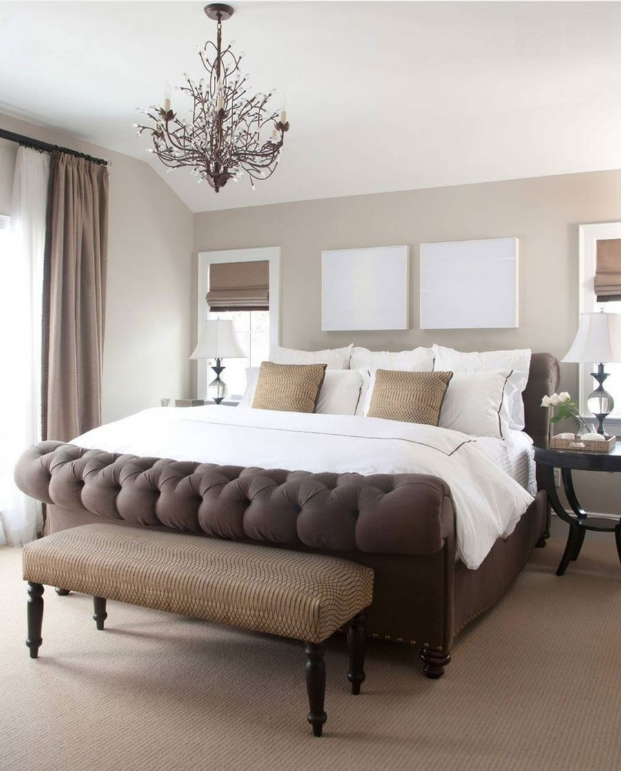 шоколадная спальня с белой мебелью фото относится категории