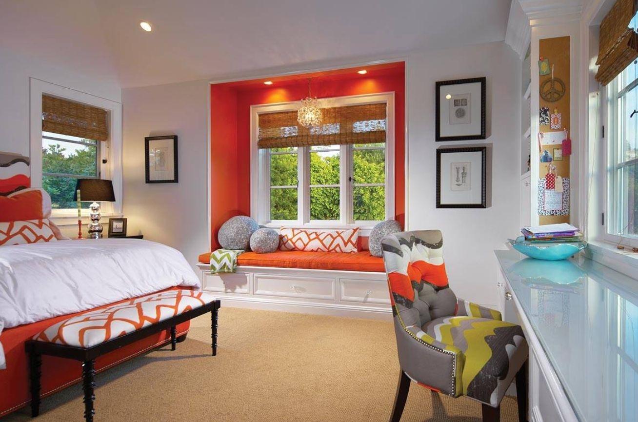 orange-windowsill-seating
