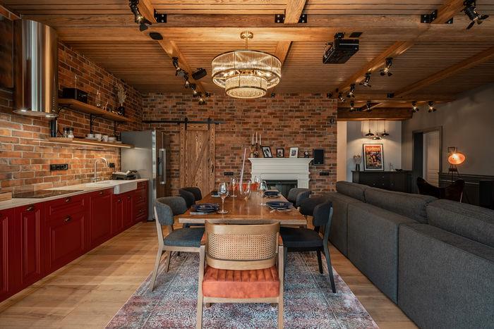 Кухонные фасады - цветовой акцент