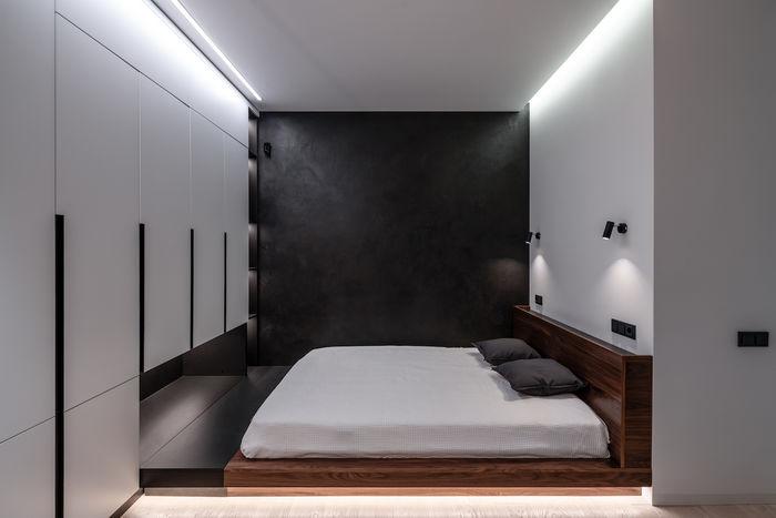 Вместо кровати парящий подиум