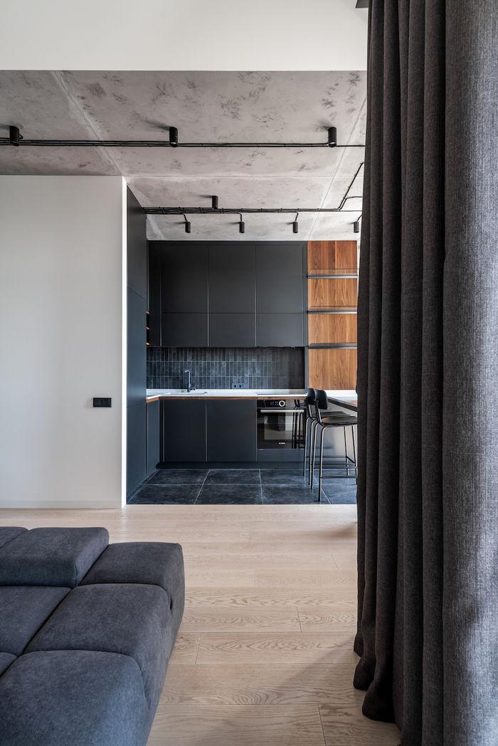 Характер дизайн-проекта построен на контрастных и связующих текстурах.