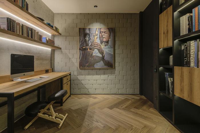 Лаконічний дизайн кабінету максимально функціональний