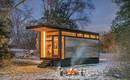 Микро дом с тремя функциями: студии, библиотеки и жилища