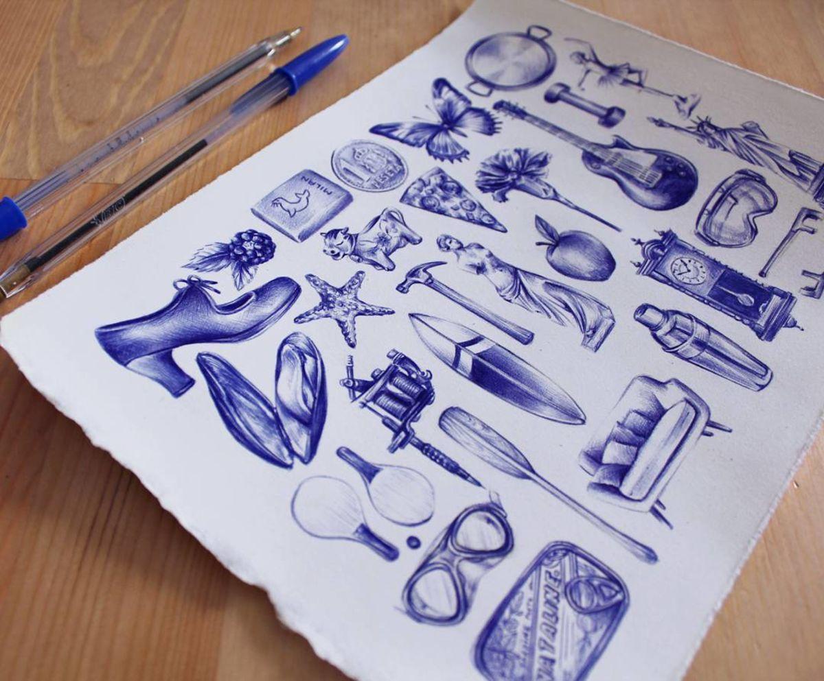 заимствовали красивые рисунки шариковой ручкой для начинающих другие списки лучших
