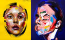 Абстрактные портреты, которые художник ленится дописывать