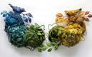 Комбинированные вышивки животных и насекомых Эми Гросс