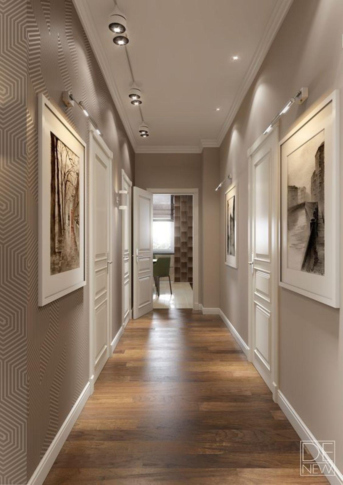 коридор узкий в частном доме фото светлее помещении, тем