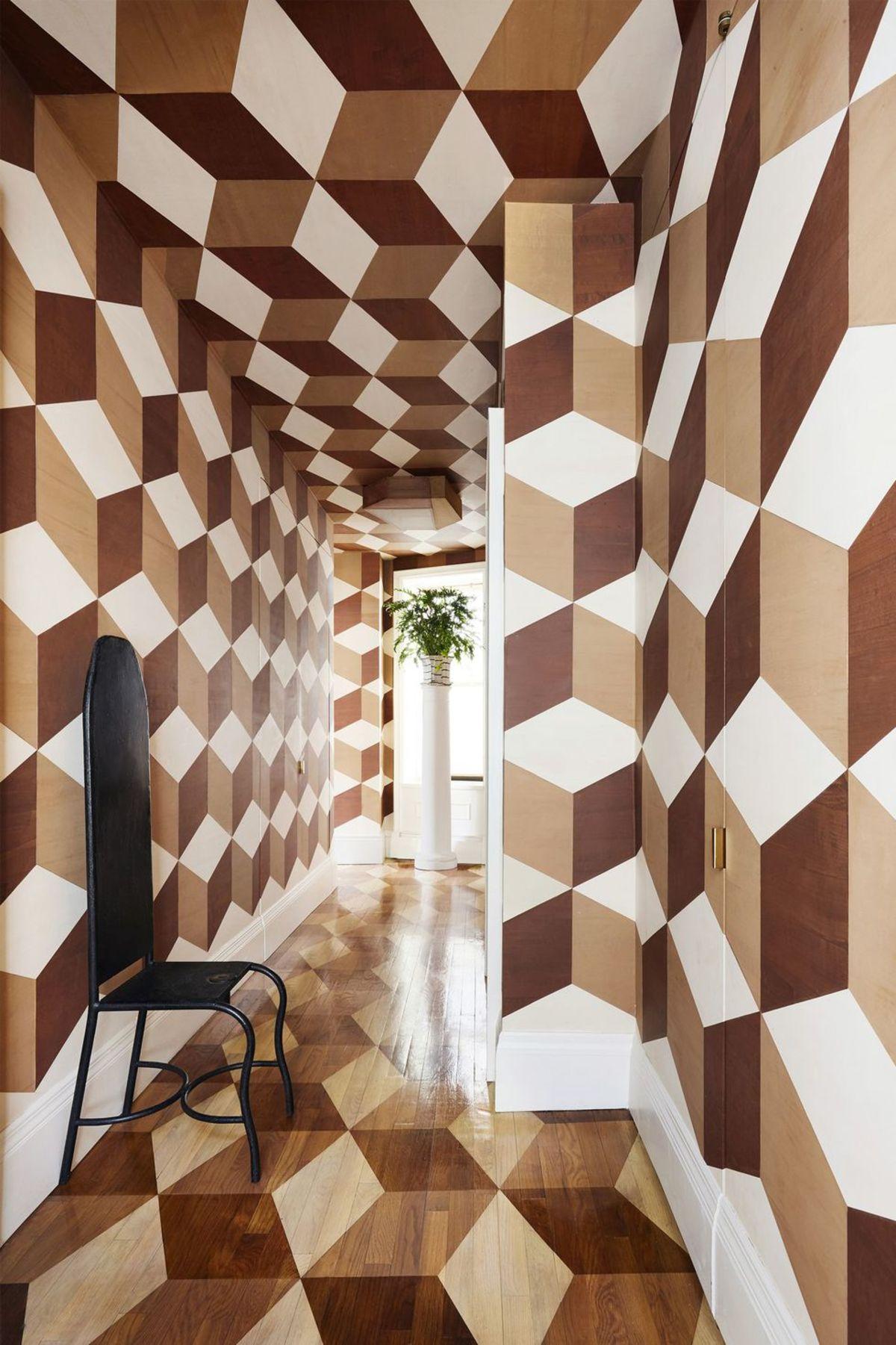 10 Ide Desain Pola Geometris Yang Membuat Dinding Makin Artistik