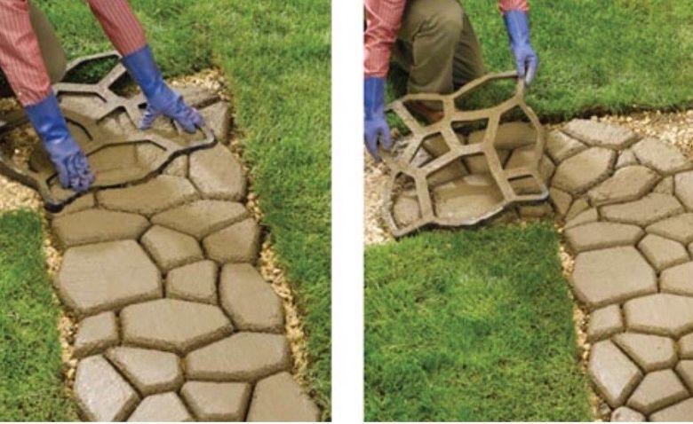 Бетонная смесь для дорожек в саду валик по бетону фактурный купить