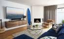 Легкий бриз для холостяка: три изумительные комнаты в морском стиле