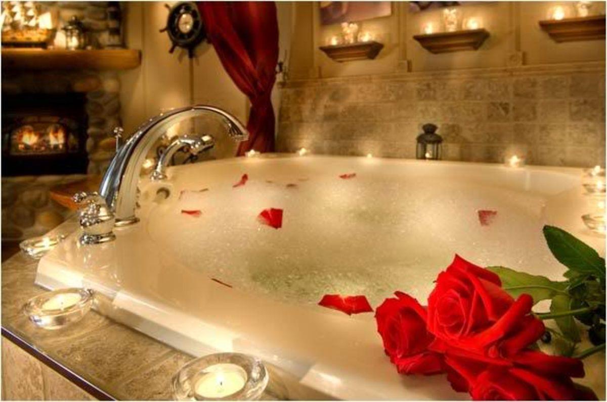 romantic bathtub hair fire - HD1024×768